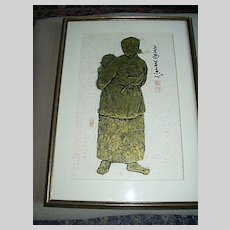 Oriental Art Tribal Woman On Rice Paper