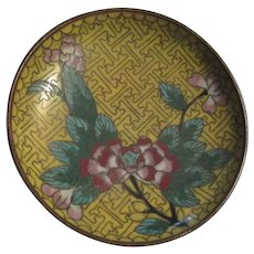 Small Old Cloisonne Dish Plate