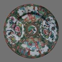 Rose Famille Medallion Plate Asian