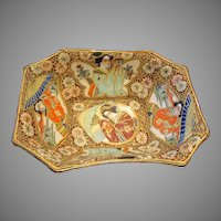 Fabulous Satsuma Bowl Decorated Inside And Out Geisha Figures Japanese Art