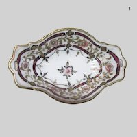 Hand Painted Japan Small Dish Shiny Gold Accents