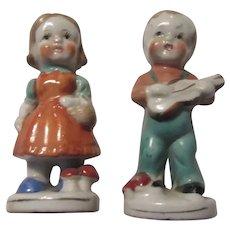 Boy Girl Old Figurines Children