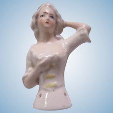 Germany Half Doll Figurine Pincushion Doll Top