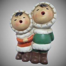 Carolers Figurines Ethnic Native Eskimo Alaska Style Figures