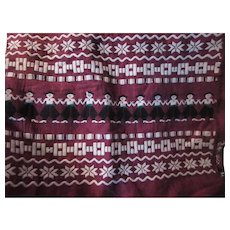 Ethnic Fabric With Embroidery Woven Figures