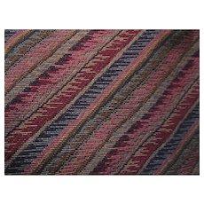 Diagonal Stripe Multicolor Vintage Upholstery Heavy Fabric