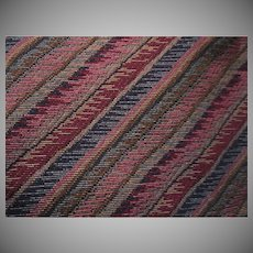 Diagonal Stripe Multicolor Vintage Upholstery Heavy Fabric