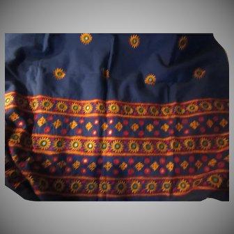 India Fabric Old Hand Embroidered Shisha Mirrors Vintage Fabrics