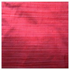Red Shaded Dupioni Pure Silk Fabric 5.5 Yds