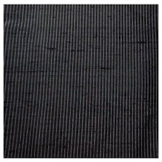 Black With Tiny White Stripe Dupioni Silk Fabric 4.5 Yds