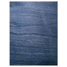 Indigo Blue Dyed Raw Silk Vintage India Fabric 4+ Yards
