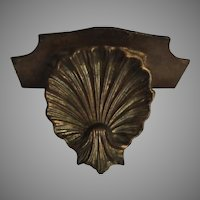 Old Italian Florentine Wall Shelf Gold Gilt Shell Design