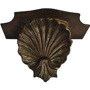 Old Italian Florentine Wall Shelf Gold Gilt Shell Design