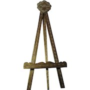 Large Italian Florentine Gold Gilt and Hand Painted Easel