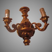 Gold Gilt Wall Sconce Candle Holders With Wiring
