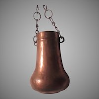 Old Copper Hanging Pot Vase Vessel Middle Eastern