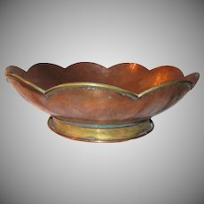 Hector Aguilar Signed Artisan Copper Bowl Mexico Fine Metalwork