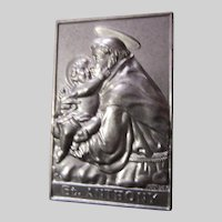 Saint Anthony Pocket Icon Medal Plaque Case Prayer