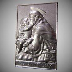 Saint Anthony Pocket Icon Medal Plaque Case Prayer