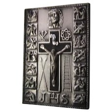 Jesus Crucifix Stations of Cross Pocket Icon Medal