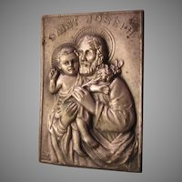 St Joseph Pocket Icon Medal In Case With Prayer