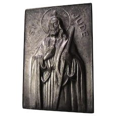 St Jude Pocket Icon Medal Medallion Case With Prayer