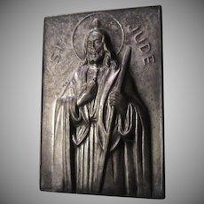 St Jude Pocket Icon Medal Medallion Case With Prayer