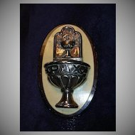 Pax Peace Eucharist Communion Old Holy Water Font