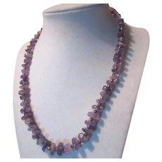 Purple Amethyst Rocks Chips Beads Necklace