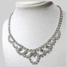 Fine Old Rhinestone Necklace