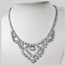 Lovely Old Rhinestone Necklace