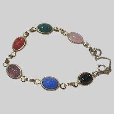Old Scarab Real Stones Bracelet