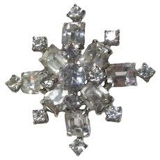 Rhinestone Starburst Pin Brooch
