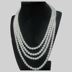 Fine Cultured Pearls Very Long Rope Necklace