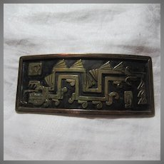 Huge Signed Mexico Buckle