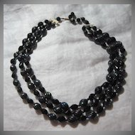 West Germany Iridescent Carnival Color Beads Necklace