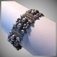 Mexican Sterling Silver Bracelet Ornate Design Fine Jewelry