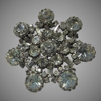 Rhinestone Brooch Pin Large Stones
