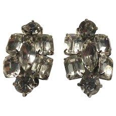 Fine Brilliant Rhinestone Clip Earrings
