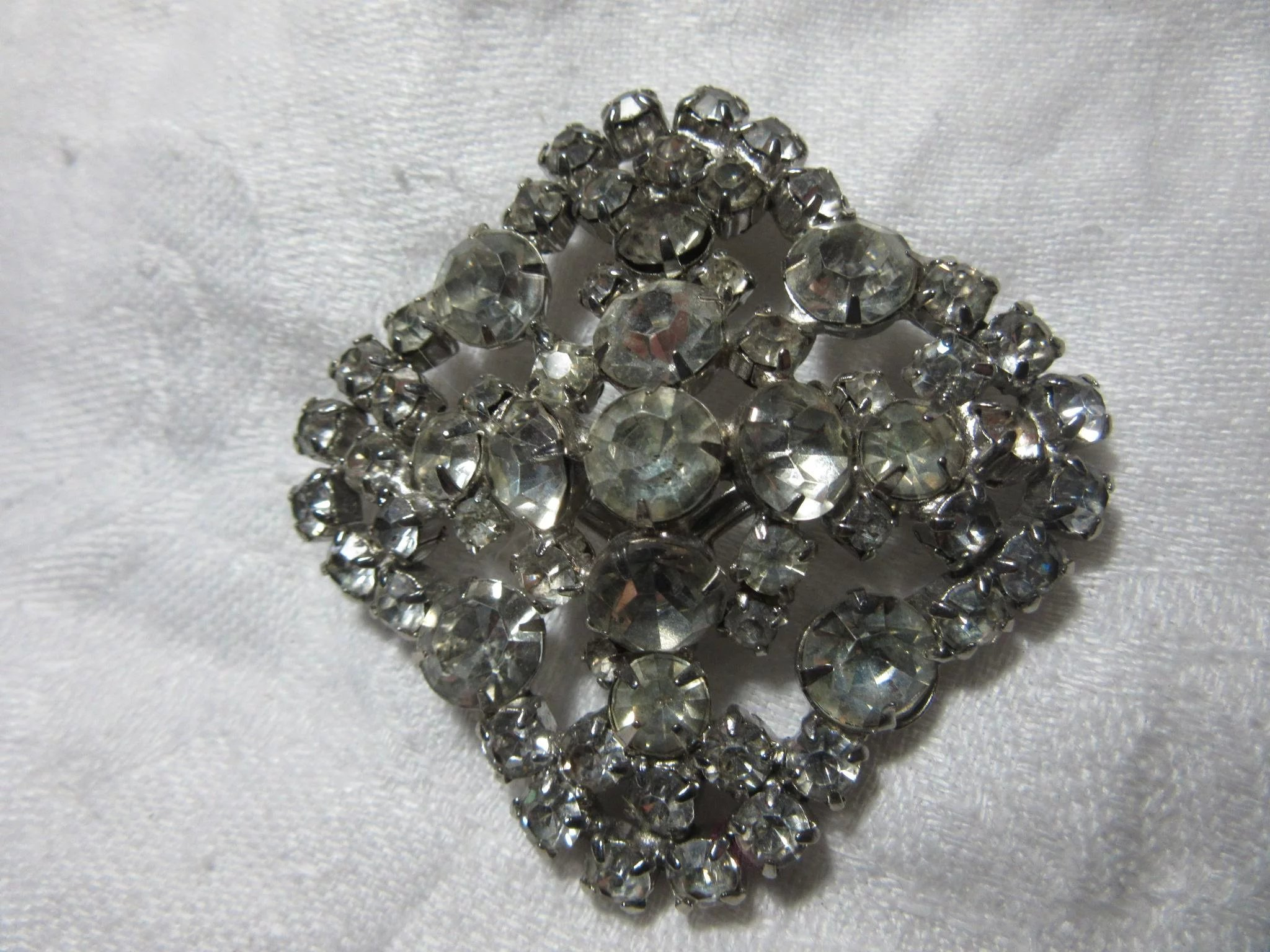 a9b4c3942 Square Vintage Rhinestone Brooch Pin : Antiques Jewelry & Sacred ...