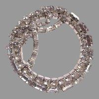 Unusual Large Rhinestone Brooch Pin Circle With Bow
