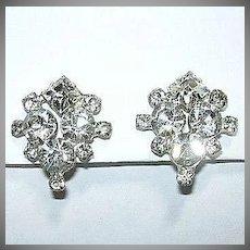 Brilliant Rhinestone Clip Earrings