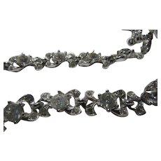 Bogoff Rhinestone Necklace Bracelet Set Fine Costume Jewelry