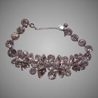 Eisenberg Elegant Rhinestone Bracelet Signed