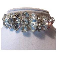 Eisenberg Rhinestone Signed Bracelet Unusual Design