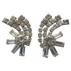 Elegant Rhinestone Clip Earrings