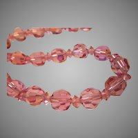 Pink Crystals Beads Choker Necklace