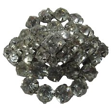 Rhinestone Brooch Pin Large Stones