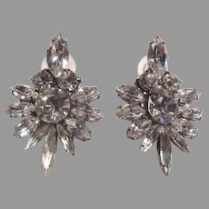 Elegant Rhinestone Earrings Pierced