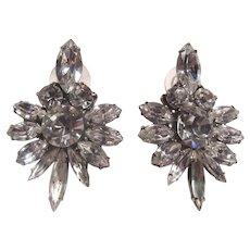 Elegant Rhinestone Earrings Pierced
